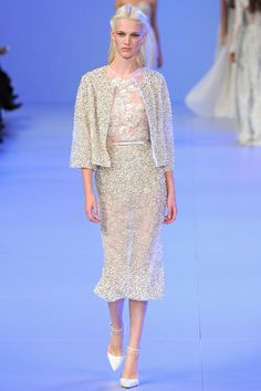 Elie Saab Parigi - Haute Couture Spring Summer 2014 - Shows - Vogue. Fashion Moda, Fashion Week, Runway Fashion, Paris Fashion, Fashion Show, Fashion Design, Haute Couture Looks, Style Couture, Haute Couture Fashion