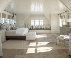 Attic Master Bedroom Inspirations - For the Home - Einrichtungsideen Attic Master Bedroom, Coastal Master Bedroom, Attic Bedroom Designs, Attic Bedrooms, Coastal Bedrooms, Bedroom Loft, Dream Bedroom, Home Bedroom, Attic Bathroom