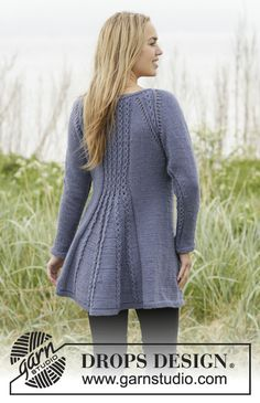 Ravelry: Lobelia pattern by DROPS design Knitting Stitches, Knitting Patterns Free, Knit Patterns, Free Knitting, Free Pattern, Knit Cardigan Pattern, Jumper Patterns, Jacket Pattern, Drops Design