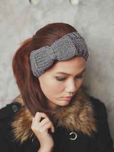 Cute Bow Knit Headband :)