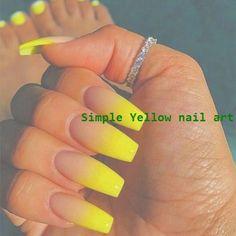Best Summer Nails - 40 Summer Nails for 2019 - Nails - for . - Nagel Ideen -[Updated] Best Summer Nails - 40 Summer Nails for 2019 - Nails - for . Summer Acrylic Nails, Best Acrylic Nails, Acrylic Nail Designs, Yellow Nail Art, Yellow Toe Nails, Acrylic Nails Yellow, Yellow Nails Design, Fire Nails, Nagel Gel