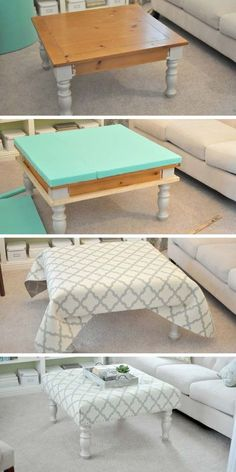 Diy furniture renovation - 25 Cool DIY Furniture Hacks That Are So Creative – Diy furniture renovation Redo Furniture, Diy Furniture Renovation, Home Furniture, Furniture Hacks, Diy Home Decor, Home Decor, Repurposed Furniture, Diy Furniture Projects, Upholstered Coffee Tables