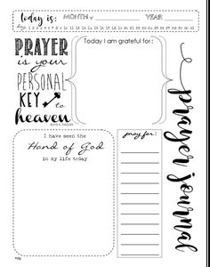 This is an instant download file for our Prayer Notes for