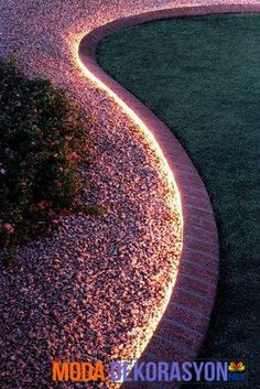 Cheap And Easy Backyard Ideas That Are Borderline Genius using a rope light around your garden edging for inexpensive lighting and it's waterproof!using a rope light around your garden edging for inexpensive lighting and it's waterproof! Lighting Your Garden, Backyard Lighting, Rope Lighting, Lighting Design, Modern Lighting, Pathway Lighting, Sidewalk Lighting, Strip Lighting, Driveway Lighting