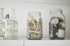 Pieni Lintu: Sisustuskatsaus 2014 Inside A House, Reduce Waste, Wooden Pegs, House Interiors, Home Organization, Ideas Para, Laundry Room, Mason Jars, Design Inspiration