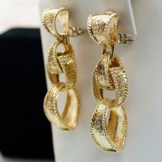 18k Yellow Gold Link Earrings
