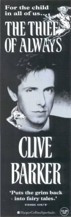 """Clive Barker's book The Thief of Always was critically acclaimed by both critics and casual readers alike. In one positive review by Publishers Weekly on paperback editions of the book stated, """"In a tale that manages to be both cute and horrifying, bestselling novelist and screenwriter Barker puts the dark side back into childhood fantasy."""" That's how I felt after reading it. It's a feast for the eyes."""