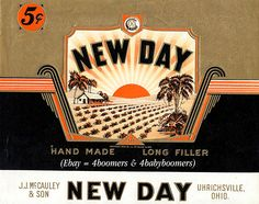 New Day cigar label