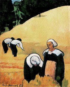 Emile Bernard 1868–1941    The Harvest (Breton Landscape) 1888    oil on canvas