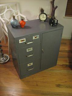 orange u0026 slate gray index filing by rerunu0027z sold on etsycom industrial steel cabinets pinterest slate orange and filing - Hon File Cabinet