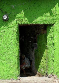 the open door #green