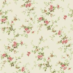 "York Wallcoverings Casabella II Trail 33' x 20.5"" Floral and Botanical Wallpaper Color: Pearl, Peach, Coral, White, Green"