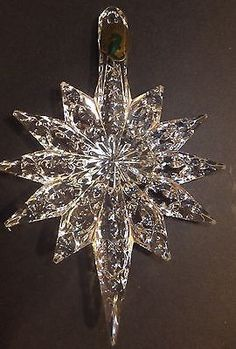 Waterford Crystal 2013 Annual Snowstar ornament with enhancer New In Box