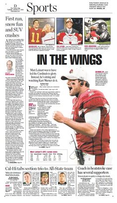 Sports cover for The Fresno Bee.
