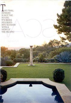 John Saladino - Villa di Lemma, Montecito