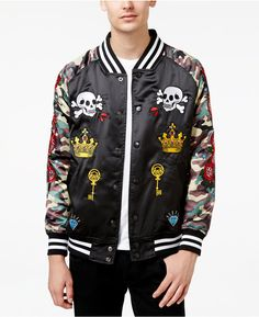 Reason Men's Roses Souvenir Jacket with Camo Sleeves & Patches https://api.shopstyle.com/action/apiVisitRetailer?id=537416787&pid=uid8100-34415590-43