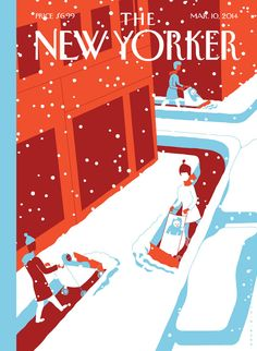 """Snow Plows"" New Yorker cover by Otto Steininger"