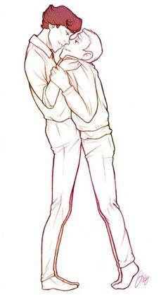 Johnlock the art soo cute