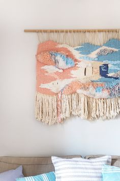 DIY Wall Weaving Ideas for Everyone | These wall decor options are a great addition to any bohemian style lover who's into the macrame of the moment. Textured wall art perfect for any space.