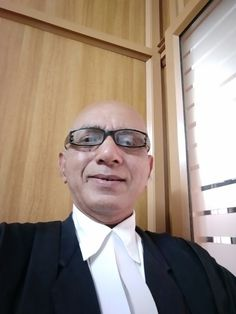 Advocate Jayaprakash Mallay in his Office at Manjeri in Mappuram District, India.