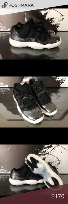 NIKE AIR JORDAN 11 RETRO BARONS BG NEW All of these are brand new, they are missing the lids and they are YOUTH sizing, but if your a sneaker head you know it converts to women's in 1.5 sizing.  4.5Y = 6 WOMENS  5Y = 6.5 WOMENS  5.5Y = 7 WOMENS  6Y = 7.5 WOMENS  6.5Y = 8 WOMENS  Please refrain from low balling as I have these both on my eBay page as well as listed at a consignment shop I work with as well. Nike Shoes Athletic Shoes