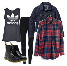"""""""Untitled #21"""" by le-crow on Polyvore featuring adidas, Patagonia, Dr. Martens and Madewell"""