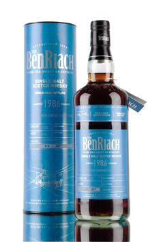 One of two single casks from 1986, released as part of Batch 13 from BenRiach distillery. A peated single malt Scotch whisky, aged for 30 years and finished in Pedro Ximénez sherry hogshead #3183. A small release of 307 bottles, filled in 2016 at cask strength, 55.6%.