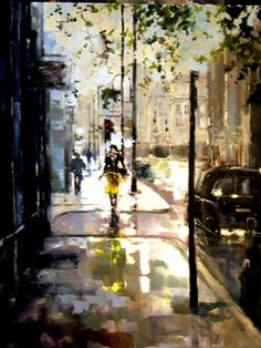 "Saatchi Online Artist Eva Czarniecka; Unknown, ""Lady iIn Yellow"" #art"
