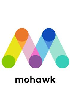 Physical continuity in the logo: a physically connected means for creating direction and movement. Pentagram Design: Mohawk #pentagram #design #identity.