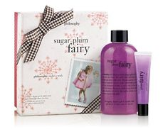 Philosophy Sugar Plum Fairy Set by Philosophy. $14.90. Shimmery and sweet. Clean skin and softly sweet lips. Return of a philosophy holiday favorite. Holiday wishes are coming true this season with the return of the sugar plum fairy, a philosophy holiday favorite. You won't have to loose a tooth for this favored fairy to visit you. Sugar plum fairy gift set includes shampoo, shower gel and bubble bath 8 ounce. And high-gloss, high-flavor lip shine 0.5 ounce. I...