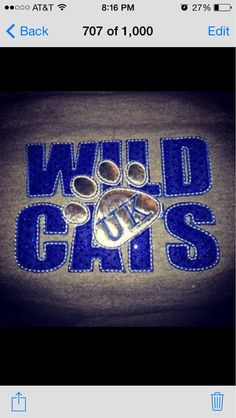 University+of+Kentucky+Wildcats+applique+by+MyCoolHairBowShop,+$25.00