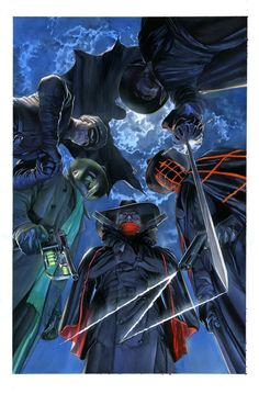 Pulp Heroes by Alex Ross  (Green Hornet, Kato, Shadow, The Spider, Zorro, Black Bat)
