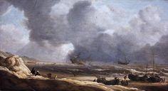 Jan Porcellis - Schipbreuk voor de kust