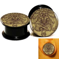 Find More Body Jewelry Information about Wholesale 20pcs/lot Baphomet 6 Logo Ear Gauge Plug And Tunnel Stretcher Expander Screw Fit Plug 6m 25mm Free Shipping,High Quality screw plug gauges,China gauge depth Suppliers, Cheap gauge size from DreamFire Store on Aliexpress.com