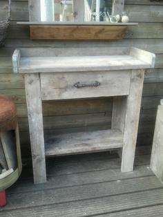 Steiger houten oppottafel