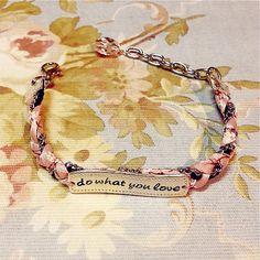 Do What You Love Friendship Bracelet #words #bracelet http://www.loveitsomuch.com/