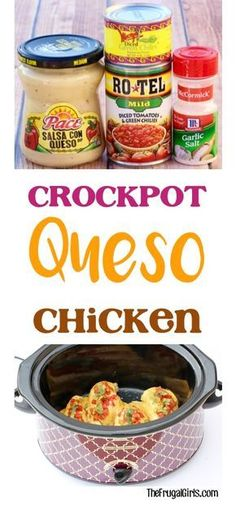 WMF Cutlery And Cookware - One Of The Most Trustworthy Cookware Producers Easy Crock Pot Queso Chicken Recipe Just 5 Ingredients, And You've Got An Off-The-Charts Delicious Slow Cooker Dinner Crock Pot Food, Crockpot Dishes, Crock Pot Slow Cooker, Crock Pots, Cheap Crock Pot Meals, Crock Pot Chicken, Crockpot Meals Easy, Mini Crockpot Recipes, Crockpot Salsa Chicken