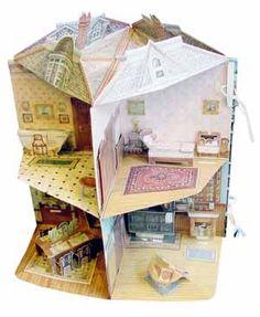 Una casa de tres dimensiones muñeca victoriana / [Diseñado por Willabel L. Tong;  ilustrado por Phil Wilson;  papel diseñado por René Jablow]