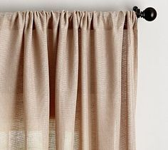 Shop Pottery Barn for custom curtains and drapes. You'll find window coverings made from linen, silk and tweed in a host of colors and styles. Window Sheers, Sheer Curtain Panels, Sheer Drapes, Burlap Curtains, Custom Curtains, Drapes Curtains, Inspiration Design, Front Rooms, Open Weave