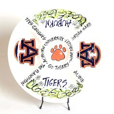 Add some green to your tailgate. This adorable veggie platter is essential to your tailgate and can also be used for fruit and any other dip-able snack. This platter also makes an excellent gift to any Tiger fan who tailgates in style.