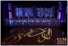 G&M DJs Fairytale Magnifique Wedding | Dancing on a Cloud | Purple Uplighting | Mood Towers | Monogram | #MCGennMackay