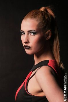 GEOMAN Photography on Pinterest | Blonde Model, Black Backgrounds and ... Red Lipstick Photoshoot