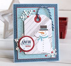 """Snowman card by Kimberly Crawford with the """"I Love Winter"""" collection and designer dies by #EchoParkPaper"""