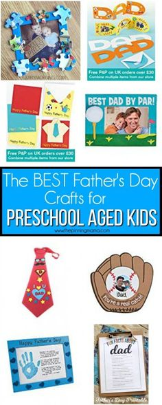 Father's Day Crafts for Preschool Aged Kids