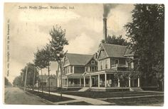 NOBLESVILLE, Ind. ~ South 9th Street ~ 1910 postcard in Collectibles, Postcards, US States, Cities & Towns, Indiana   eBay