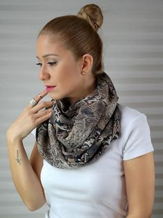 GRAND OPENING SALE infinity scarf, summer scarf, spring scarf, four season, chiffon/rayon scarf, new season, snakeskin patterned