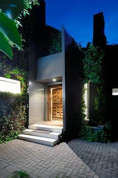 Entrance toB House in Madrid, Spain. By A-cero Architects