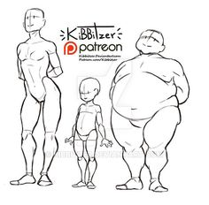 Body types reference sheet by Kibbitzer