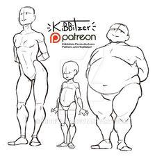 Body types reference sheet by Kibbitzer.deviantart.com on @DeviantArt                                                                                                                                                                                 More