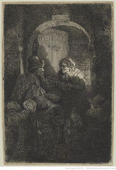[Le maître d'école] : [estampe] ([1er état, dernier entièrement de la main de Rembrandt]) / Rembrandt f 1641. [sig.]
